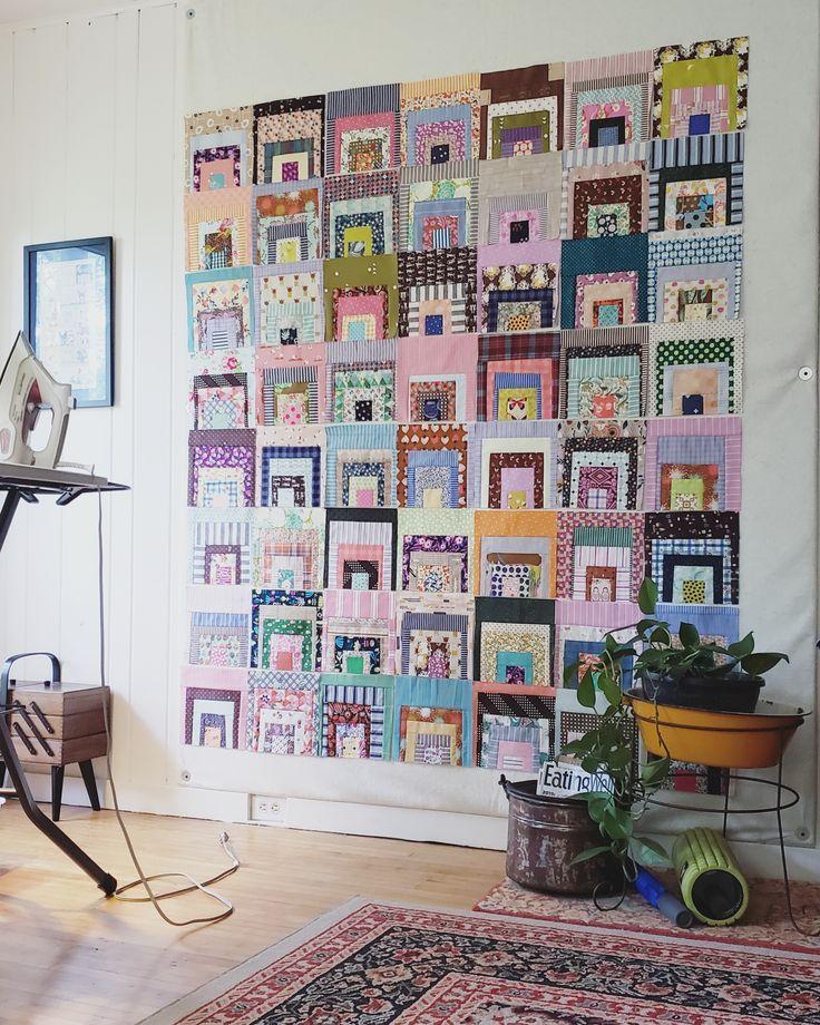 modern quilt wall