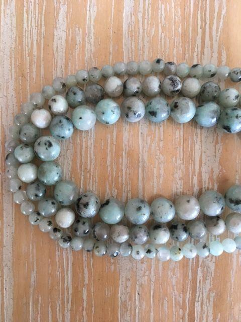 Kiwi (or Sesame) Jasper - 4, 6 & 8 mm beads