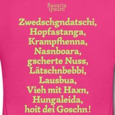 Bayrische Schimpfwörter Nr.3 T-Shirts
