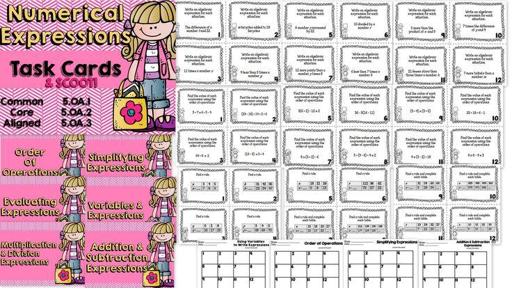 Tarjetas de tareas, Orden de las operaciones and Multiplicación on ...