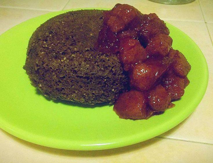 Mikrós bögrés süti recept (paleo)