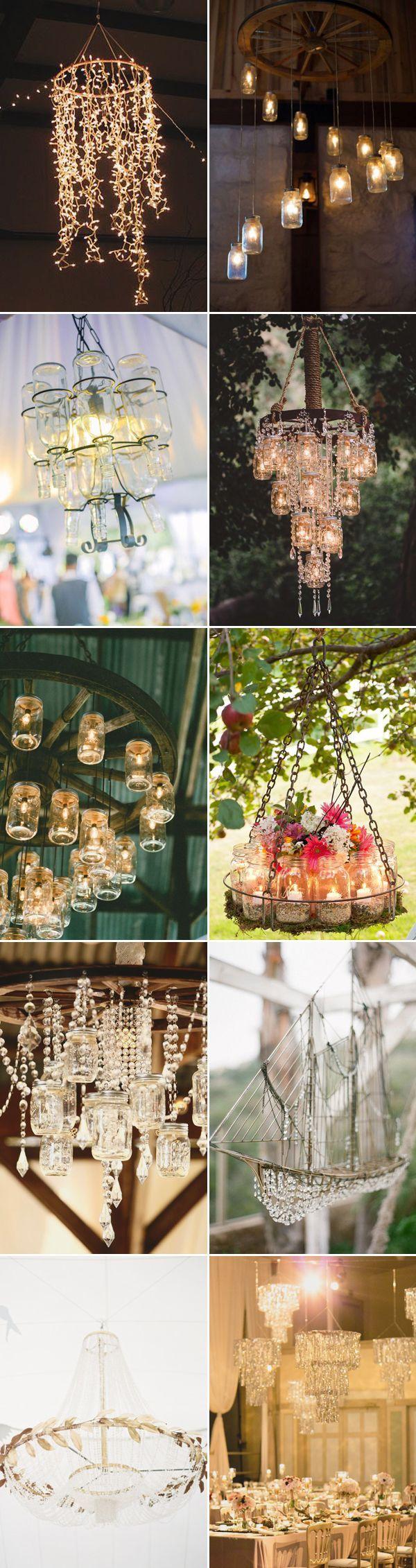rustic wedding ideas- Creative & DIY Wedding Chandeliers