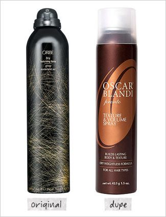Oscar Blandi Pronto Texture & Volume Spray ($25, Ulta.com) dupe for Oribe Dry Texturizing Spray ($39, Oribe.com)