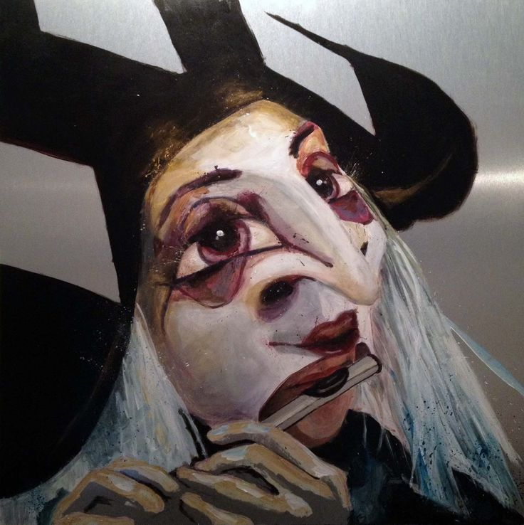 Basler Fasnacht, Painting by Manuela Studer