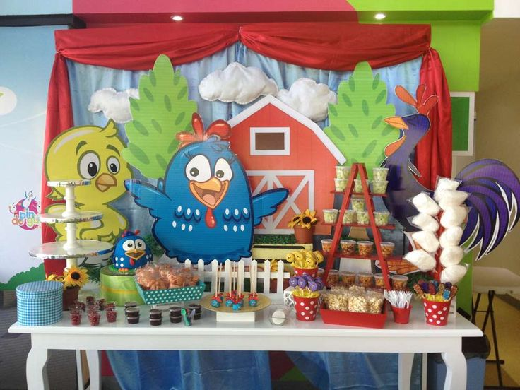 Dessert table at a farm birthday party! See more party ideas at CatchMyParty.com!