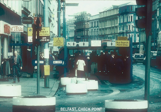 Security Checkpoint, Belfast City Centre 1970s