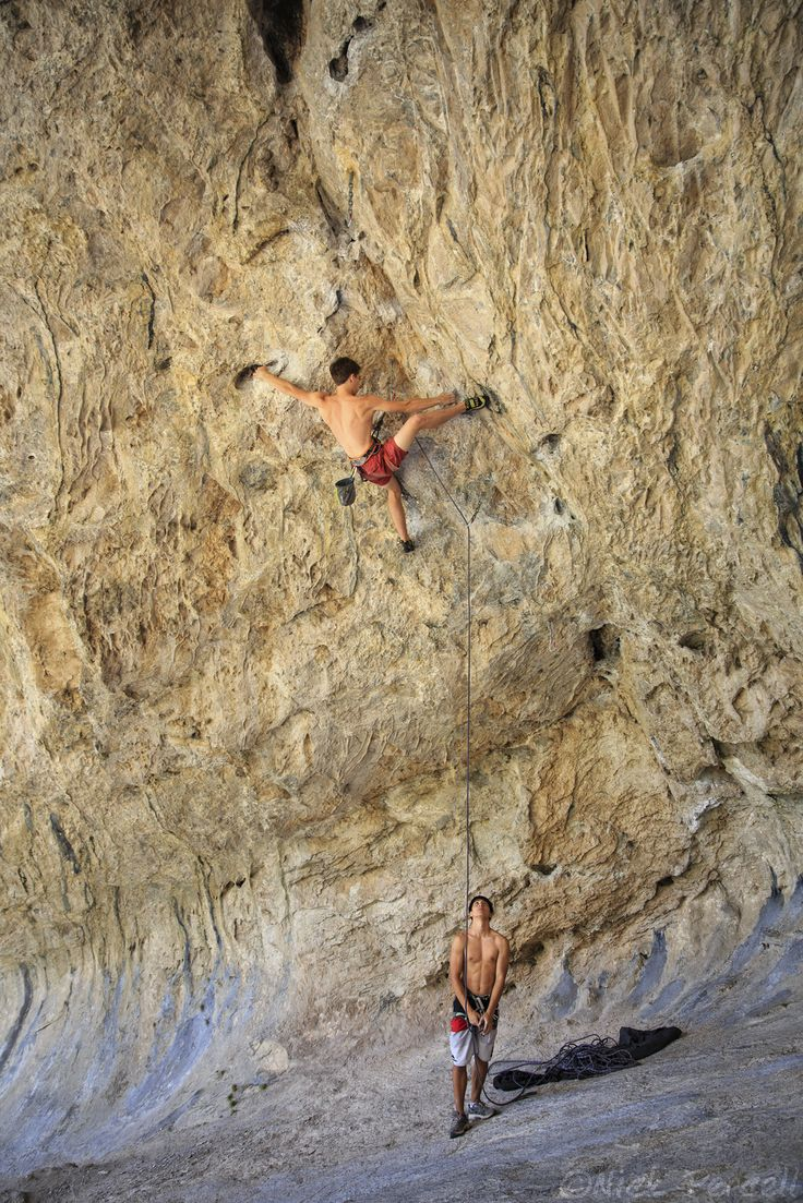 "house-under-a-rock: ""Bryce Taylor on ""Straight Outa Compton"" 5.12d, Compton Cave. Mt. Charleston, Nevada photo: Nick Percell """