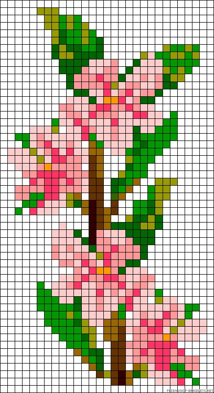 sandylandya@outlook.es  Cherryblossoms flowers perler bead pattern