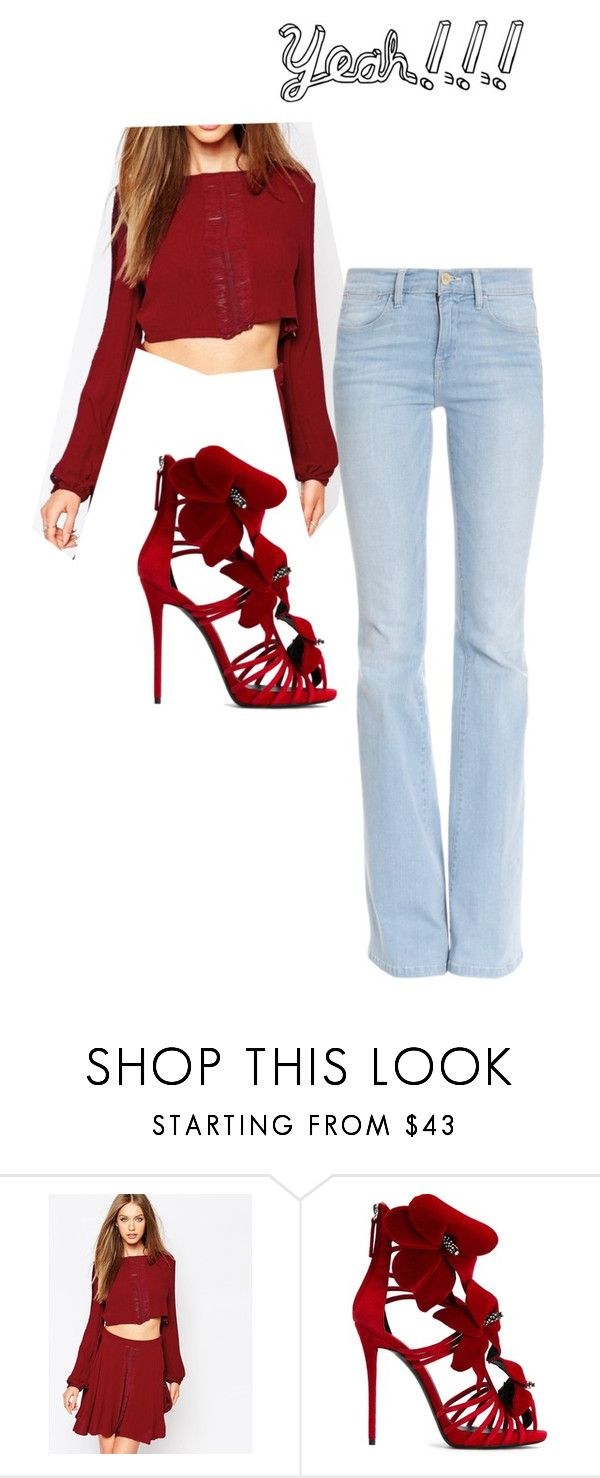 """""""Yeah! I don't know"""" by lovedarcie ❤ liked on Polyvore featuring moda, Missguided, Giuseppe Zanotti e Frame Denim"""