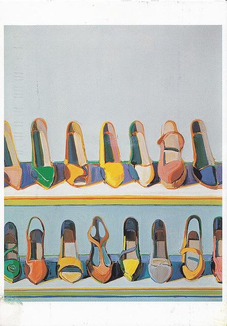 Wayne Thiebaud, Shoe Rows, 1975 (Arrangements question)