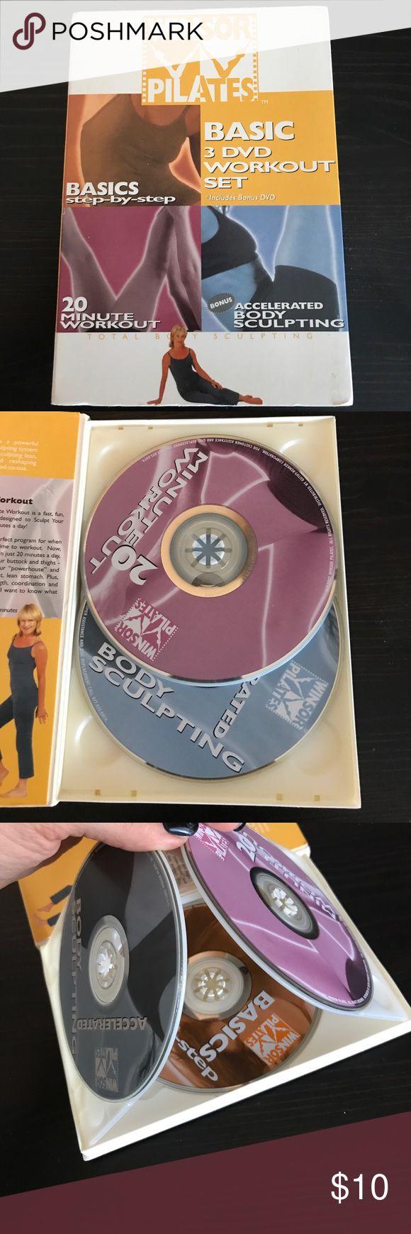 3 disc Windsor Pilates DVD set Complete 3 disc set Winsor PilatesDVDs. Good condition, no skips. Other
