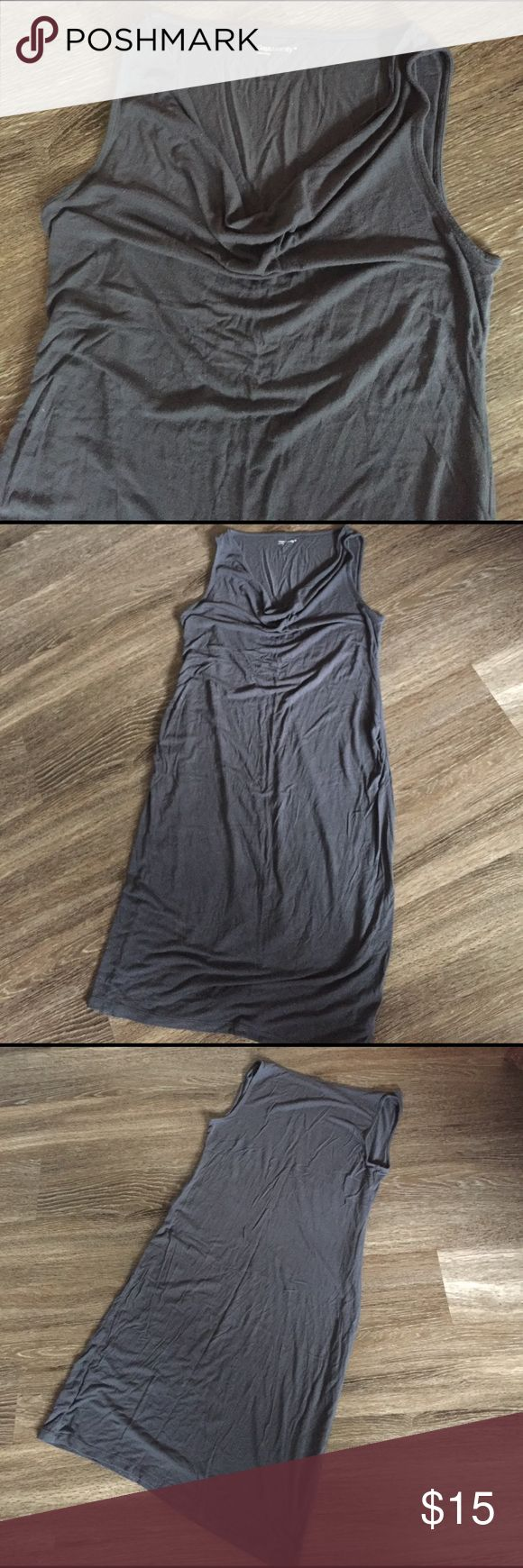Gap Maternity maxi dress Very comfy  cotton maxi dress for the growing belly. Pretty gun metal color. Comfortable for spring or summer wear or just lounging. Open to offers. GAP Dresses Maxi