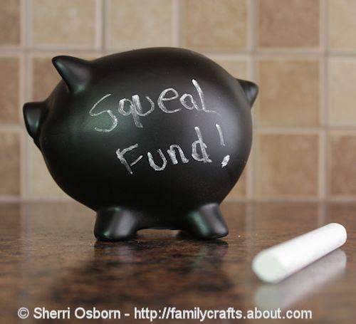 Chalkboard Piggy Bank Craft