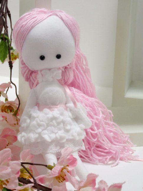 demoiselle de chiffon, rag doll original, rag doll white pink