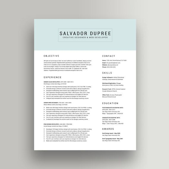 Layout For Resume Classy 286 Best Best Resume Format Images On Pinterest  Resume Templates .