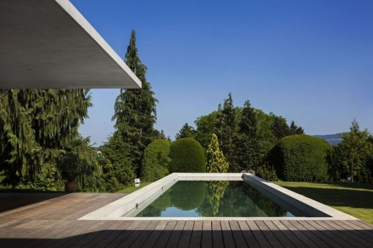 uncommon view showcased finished with wooden deck design plan in haus von arx from swimming pool exterior design