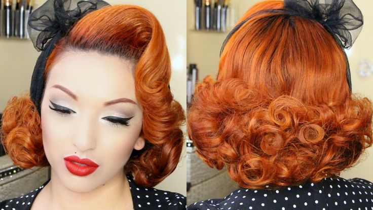 Fluffy Pin Curl Tutorial + Win A Dress & $100 Gift Card