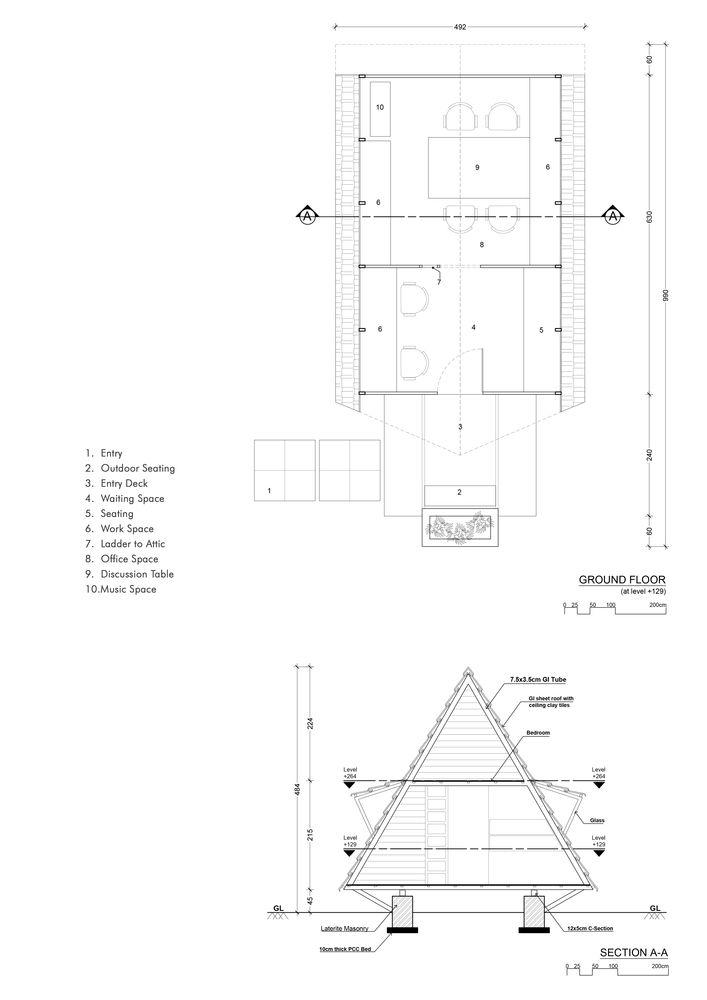 Gallery Of Architecture Studio Attic Lab 39 Studio Floor Plans Studios Architecture Architecture