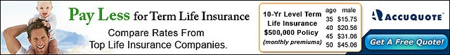 Term life insurance is less expensive to protect your family's future    AccuQuote-Life Insurance Policy     tips on how to Protect Your Family [in the Event of Your Untimely  Death]  Learn more at mysite.com