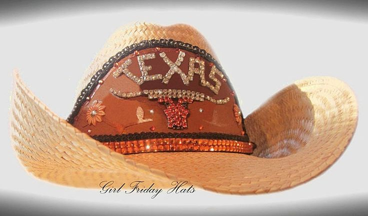 Texas Longhorns Collegiate Embellished Cowgirl by GirlFridayHats, $150.00