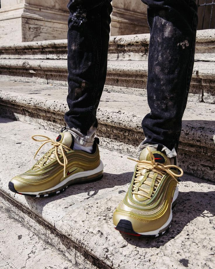 how to wear metallic gold air max 97