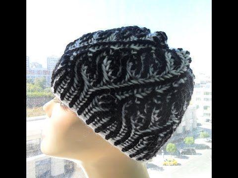 Шапка спицами Бриошь часть1 (brioche hat)