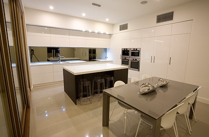 Kitchen of our Lightsview Terrace Display Home, open only by appointment