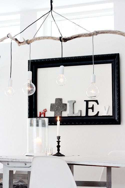 Tak met lampen super leuk idee!