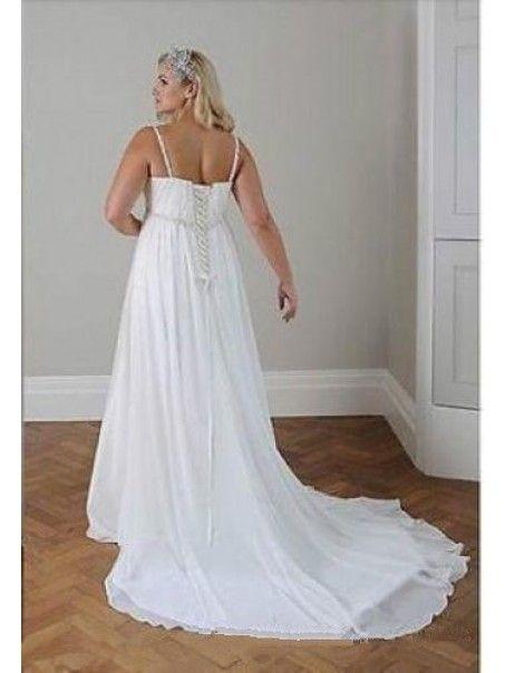 dc383a1b06b Empire Chiffon Plus Size Maternity Wedding Dresses Bridal Gowns 99603289