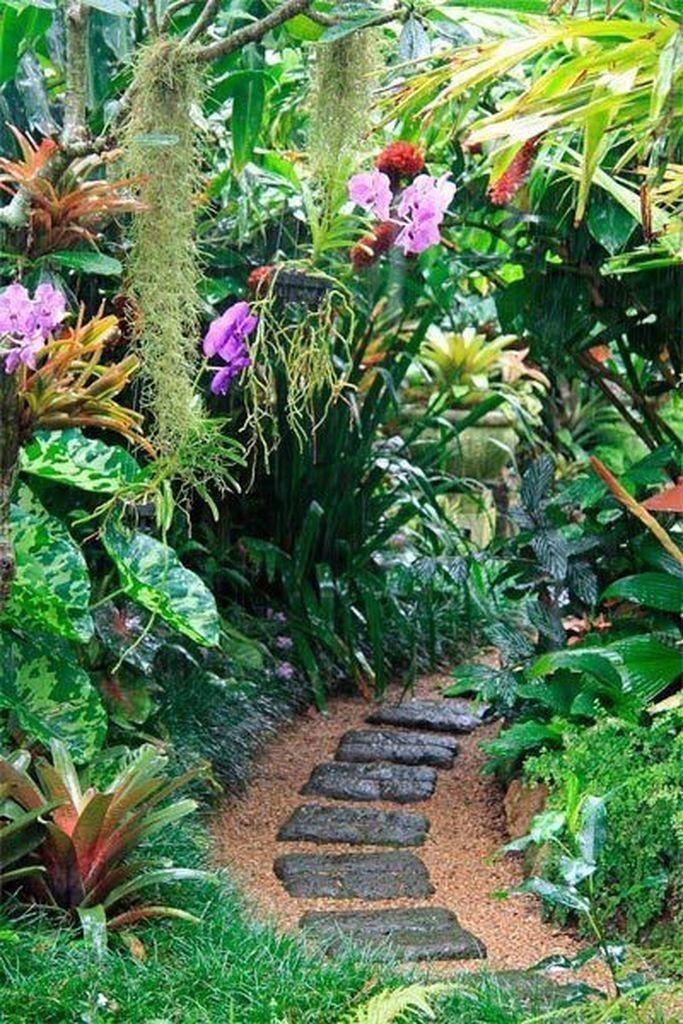 41 Perfect Front Garden And Landscaping Idea You Can Do Tropical Garden Design Tropical Landscaping Tropical Garden