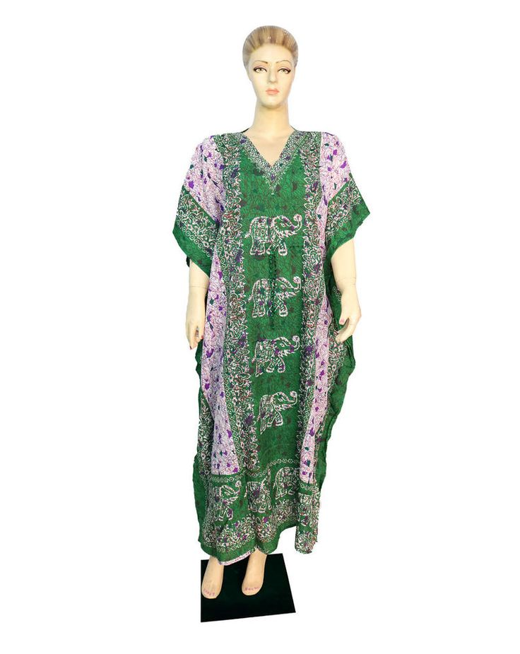 Indian Free Size Cover Up Party Wear Any Season Dress Beach Casual Wear Kaftan  #Unbranded #KaftaanBeachDressMaxi #Casual