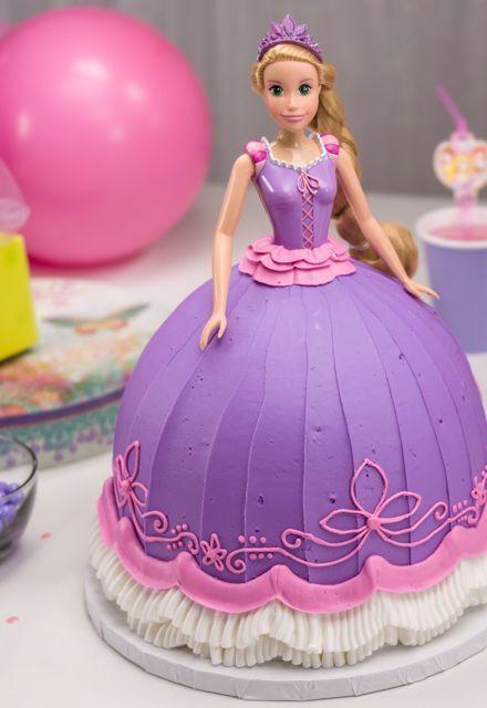 rapunzel barbie doll cake
