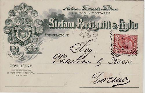 #NOVI LIGURE: testatina - STEFANO PERNIGOTTI & FIGLIO - Fabbrica torroni 1909