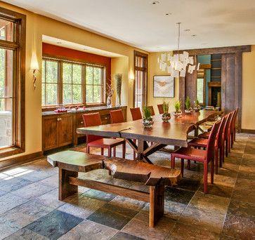 Lake Michigan Home Rustic Dining Room