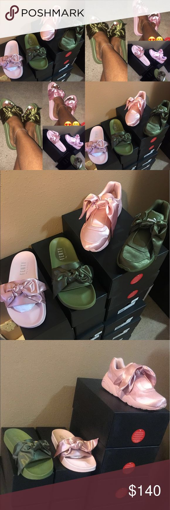 🎀💚Puma Fenty (Rihanna Collection)💚🎀 🚨🎀💚🎀💚🎀We Have All Sizes In...!!! 🚨❤️Serious Buyers Only... Yes They Are The Authentic/Real Rihanna Puma Fenty Collection... Slides are $140 the gym shoes are $220❤️🚨🎀💚🎀💚🎀 Reasonable Offers will be accepted!!! Puma Shoes Sandals