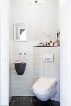 17 best images about toilet on pinterest toilets grey tiles and dutch - Deco wc zwart wit ...