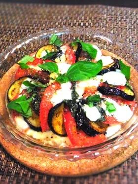 茄子とトマトとモッツァレラのハーブグリル