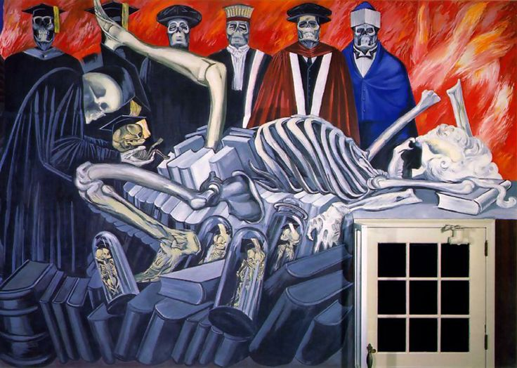 Detail of mural by José Clemente Orozco at Baker Library, Dartmouth College, Hanover, New Hampshire