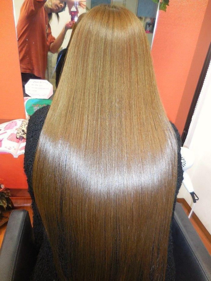 サラサラ 2021 ストレート ヘアスタイル シルキーヘア ゴージャスなヘアスタイル