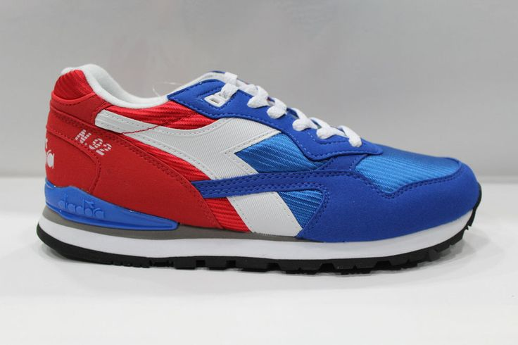 Scarpe Diadora N 92 Shoes Sneakers Basse Unisex Rosso Blu