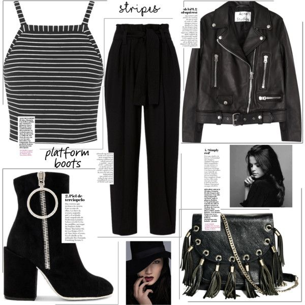 Untitled #169 by medinaxfash on Polyvore featuring Topshop, Acne Studios, A.L.C., Off-White and GUESS by Marciano