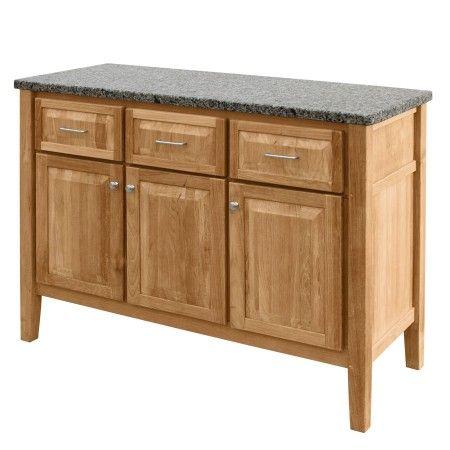Elegant Teak Outdoor Tables   Berwick Sideboard W/ New Caledonia Granite Top