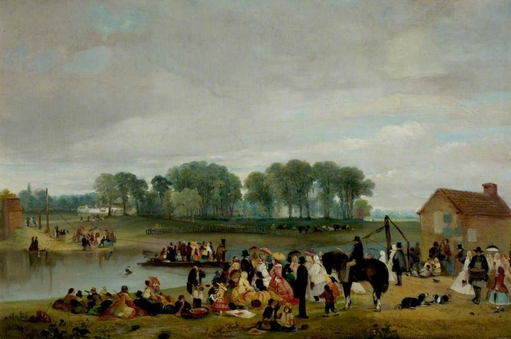 Wilford Ferry, Nottingham (The Cherry-Eatings)  by John Holland