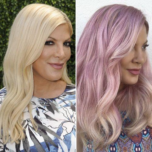 Tori Spelling Hair Transformation