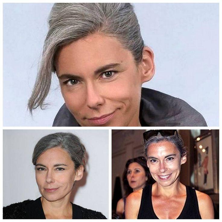 Extrêmement Les 25 meilleures idées de la catégorie Cheveux gris elisabeth  UZ12