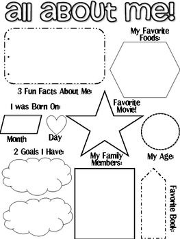 Use this All About Me sheet as a beginning of year activity. Students can work on this as they are walking into the classroom on the first day of s...