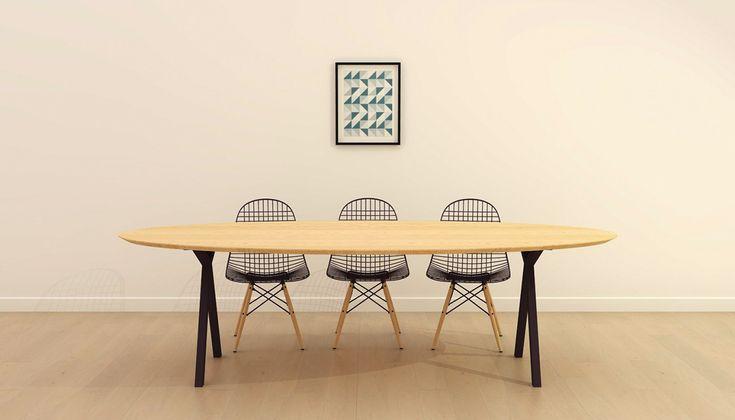 25 beste idee n over ijzeren tafel op pinterest staal for Design tafel ovaal