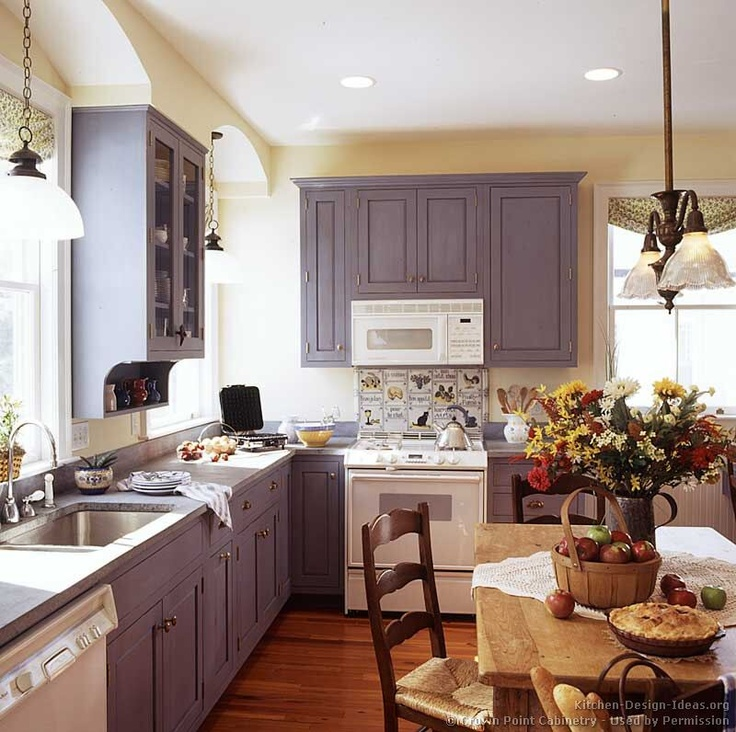 Marvelous Idea Of The Day: Early American Kitchen (By Crown Point Cabinetry) With  Lovely Blue Cabinets. Good Ideas