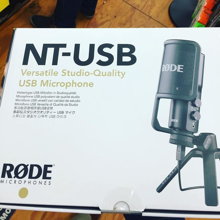 Picked up a #Røde #NTUSB mic today to replace my #Blue #Snowball mic for my podcast #TheWriteShift.