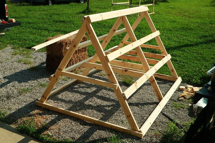How To Build An A Frame Chicken Coop The Movable Chicken Sled